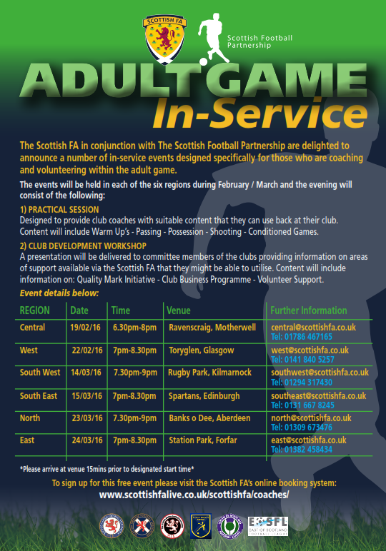 Adult In Service Courses